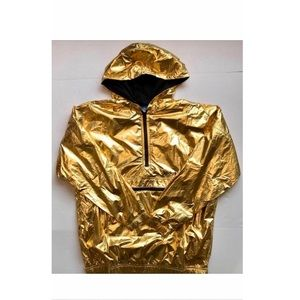 Adidas Womens Golden Windbreaker Gold Metallic